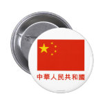 People's Rep of China Flag with Name in Chinese Buttons