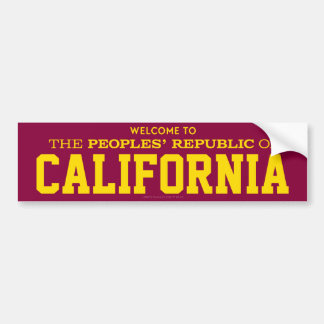 Peoples' Republic of California Stickers Bumper Stickers