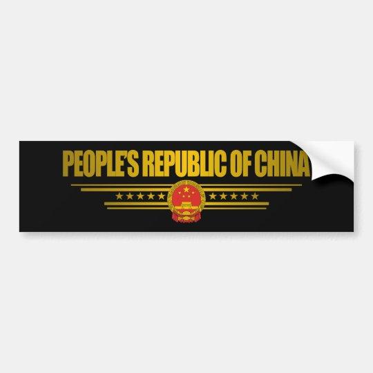 People's Republic of China Bumper Sticker