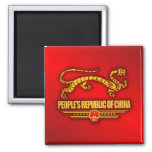 People's Republic of China (Dragon) 2 Inch Square Magnet