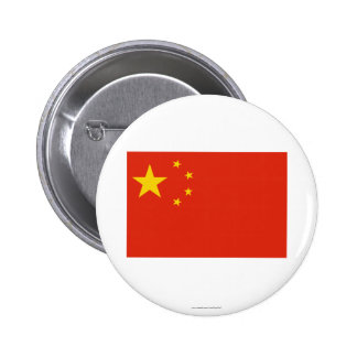 People's Republic of China Flag Pinback Buttons