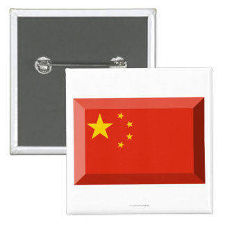 People's Republic of China Flag Jewel Button