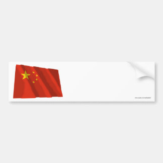 People's Republic of China Waving Flag Bumper Sticker