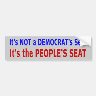 People's Seat Election Message Bumper Sticker