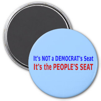 People's Seat Election Message 3 Inch Round Magnet
