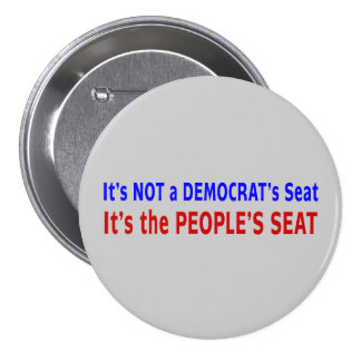 People's Seat Election Message Pinback Button