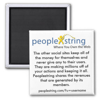 PeopleString Square Magnet