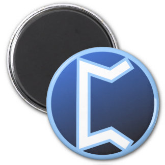 Peord Perth Rune 2 Inch Round Magnet