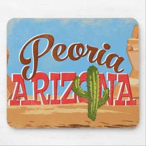 Peoria Arizona Vintage Travel Mouse Pad