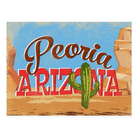 Peoria Arizona Vintage Travel Postcard