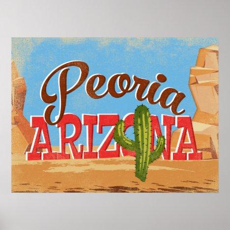 Peoria Arizona Vintage Travel Poster