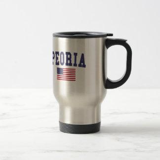 Peoria AZ US Flag Travel Mug
