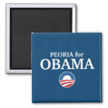 PEORIA for Obama custom your city personalized Magnet