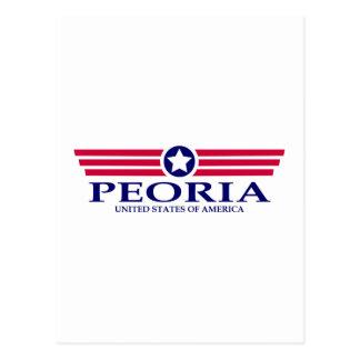 Peoria IL se enorgullece Tarjeta Postal