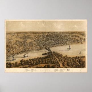 Peoria Illinois (1867) Poster