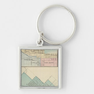 Peoria, Oneida, Knoxville and Dallas Keychain