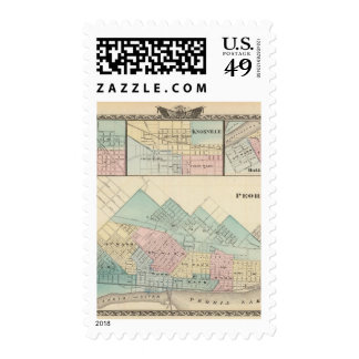 Peoria, Oneida, Knoxville and Dallas Stamps