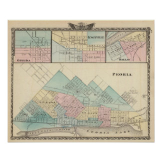 Peoria, Oneida, Knoxville and Dallas Poster