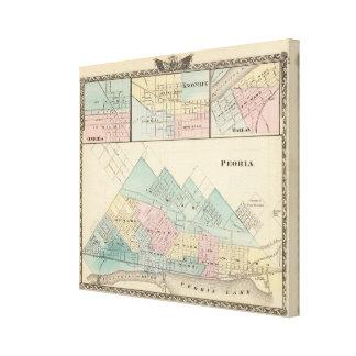 Peoria, Oneida, Knoxville y Dallas Impresión En Lienzo