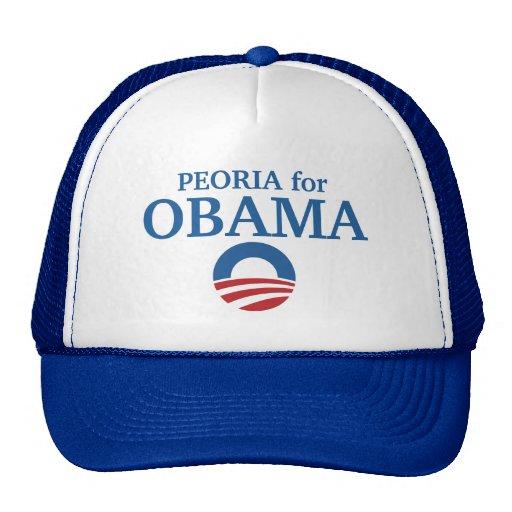 PEORIA para el personalizado de Obama su ciudad pe Gorras De Camionero