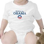 PEORIA para el personalizado de Obama su ciudad Trajes De Bebé
