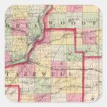 Peoria, Woodford, condados de Tazewell Calcomanías Cuadradas Personalizadas