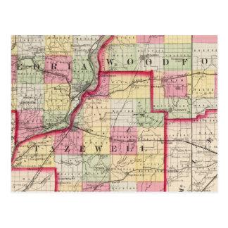 Peoria, Woodford, condados de Tazewell Postales