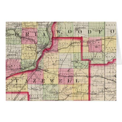 Peoria, Woodford, condados de Tazewell Tarjeta De Felicitación