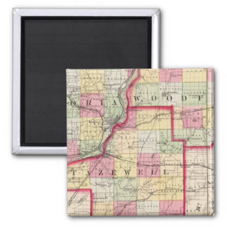 Peoria, Woodford, Tazewell counties 2 Inch Square Magnet