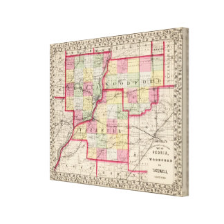 Peoria, Woodford, Tazewell counties Canvas Print