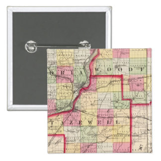 Peoria, Woodford, Tazewell counties Pinback Button
