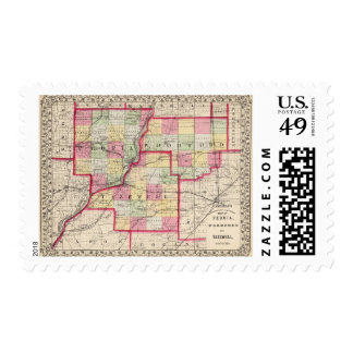 Peoria, Woodford, Tazewell counties Postage