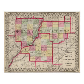 Peoria, Woodford, Tazewell counties Poster