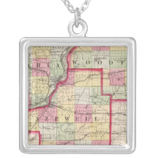 Peoria, Woodford, Tazewell counties Square Pendant Necklace