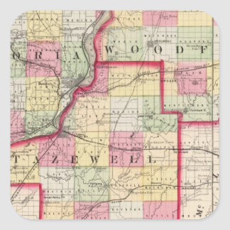 Peoria, Woodford, Tazewell counties Square Sticker