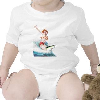 Pep le para arriba, monte el tiburón traje de bebé