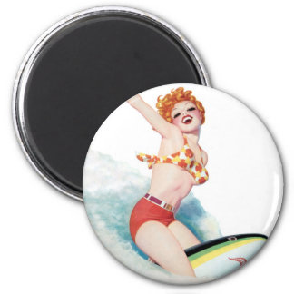 Pep you Up, Ride the Shark 2 Inch Round Magnet