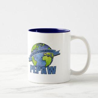 Pepaw más grande del mundo taza de dos tonos
