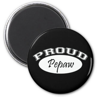 Pepaw orgulloso (blanco) imán redondo 5 cm