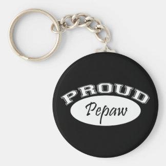 Pepaw orgulloso (blanco) llavero redondo tipo pin