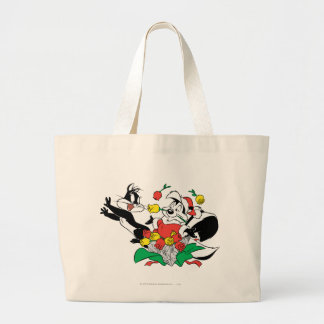 Pepe and Penelope Christmas Gift Canvas Bags