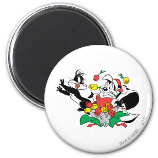 Pepe and Penelope Christmas Gift Magnet
