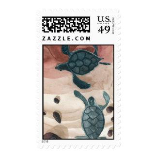 Pepe Hawaiian Honu's playing Postage Stamps
