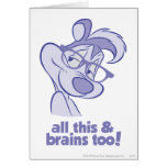 Pepe Le Pew - All This & Brains Card