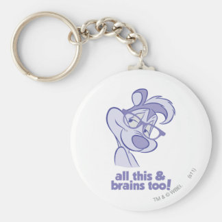 Pepe Le Pew - All This & Brains Keychain