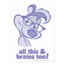 Pepe Le Pew - All This & Brains Postcard