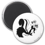 Pepe Le Pew and Penelope 2 Inch Round Magnet