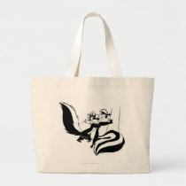 Pepe Le Pew and Penelope 2 Large Tote Bag