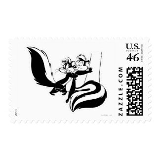 Pepe Le Pew and Penelope 2 Stamp