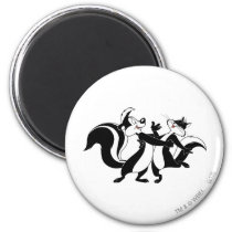 Pepe Le Pew and Penelope 3 Magnet
